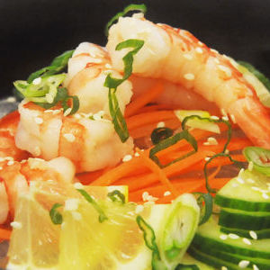 EBI Sunomono Salad with Organic Black Tiger Shrimp